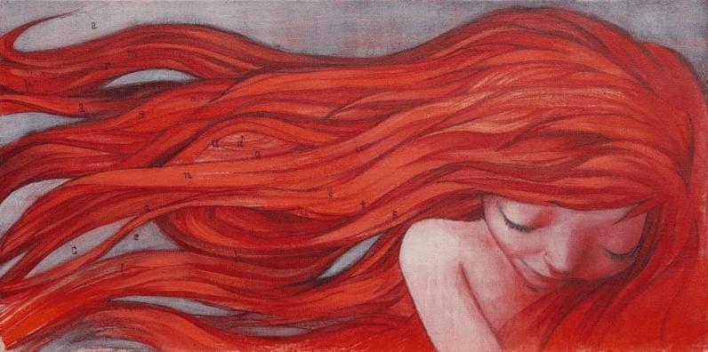 Mulher com cabelo vermelho