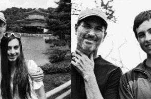 Steve Jobs com seus filhos