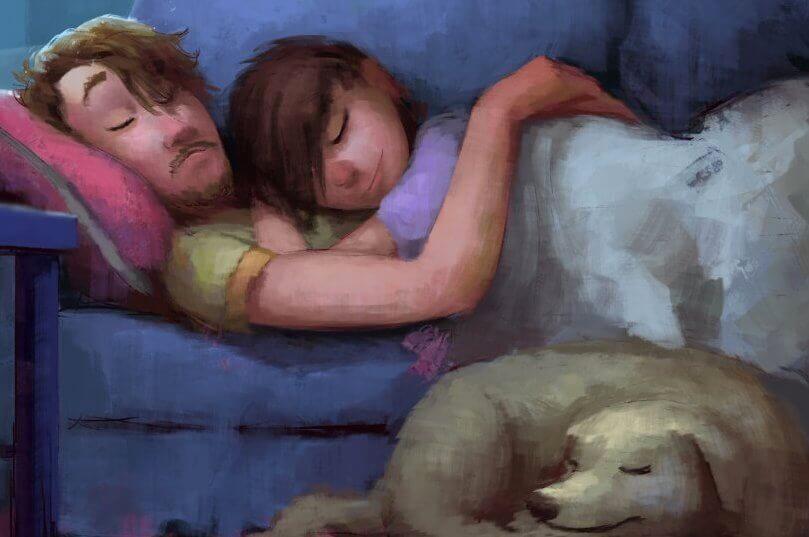 casal-dormindo-com-cao