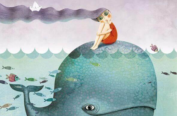 menina com baleia