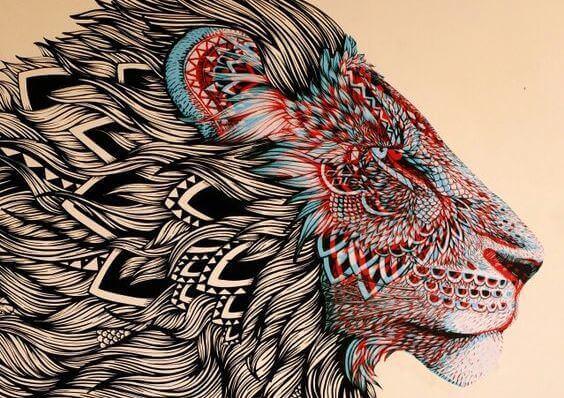 ilustração-leão-representando-emoções