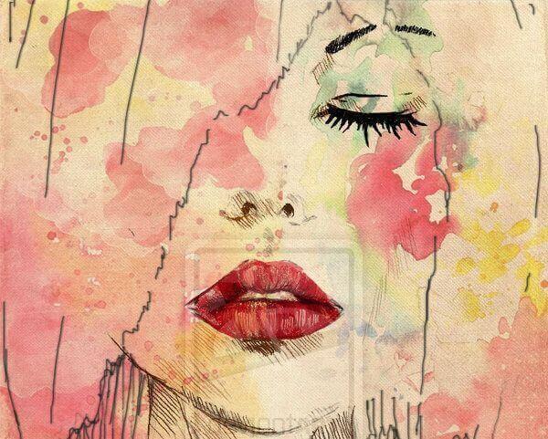 ilustração mulher em rosa representando como nos veem