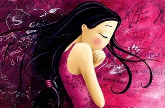 jovem-com-vestido-rosa-encolhida-pensando-em-dizer-adeus-às-comparações-Copy