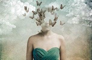 Mulher tentando esvaziar a mente