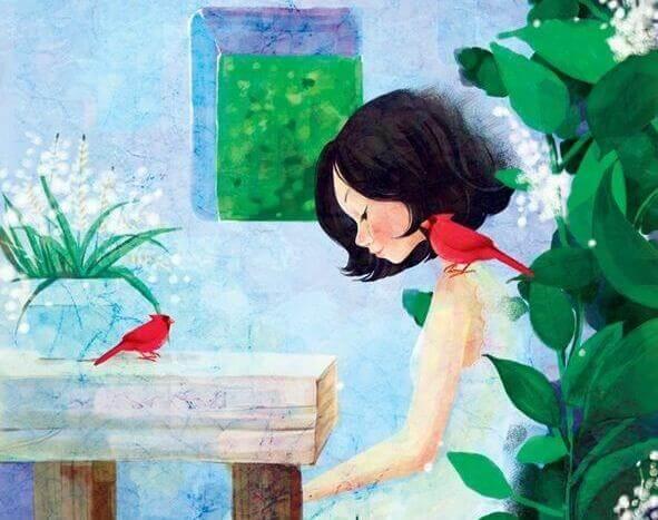 pássaro fora da gaiola