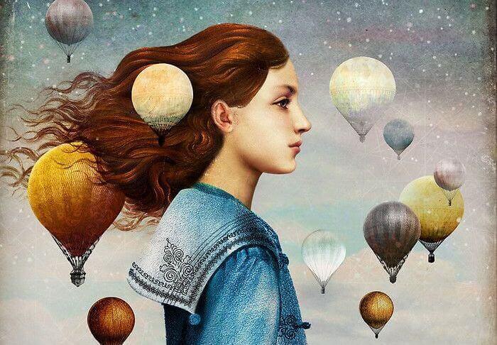 mulher-balões