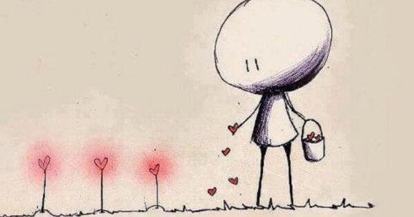 plantar-corações
