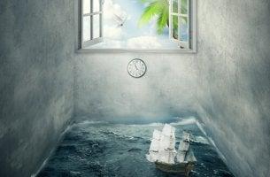Barco em quarto fechado