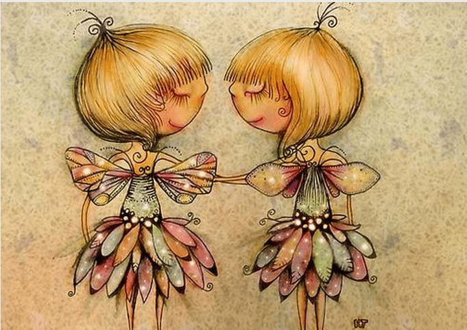 A amizade é tinta permanente