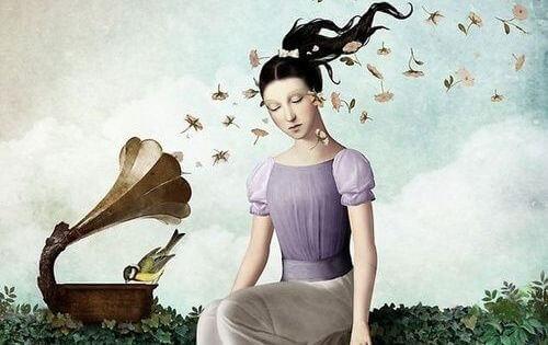 mulher-musica-vento