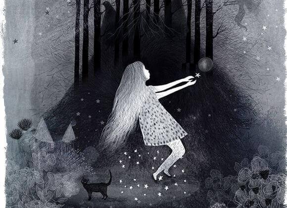 Menina aprendendo a ignorar seu medo
