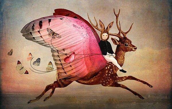 menina-montando-cervo-voador