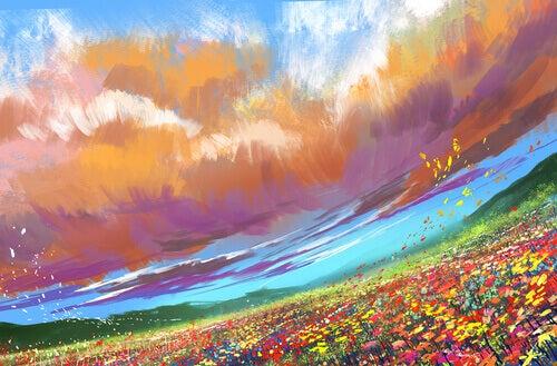 Campo com flores representando o fim da dor