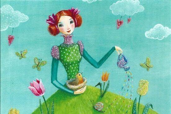 mulher-regando-jardim-cores