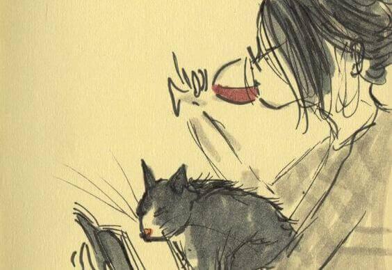 garota-bebendo-vinho-com-gato-tentando-aceitar-se