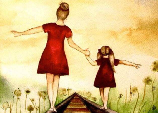 mãe-e-filha-de-vermelho-representando-respeito