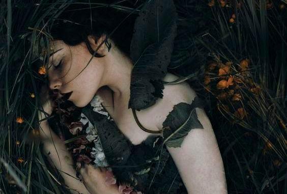 menina-ferir-arbustos