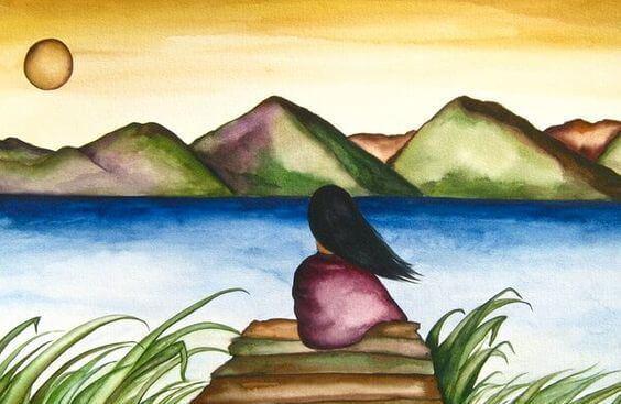 mulher-olhando-o-lago-respeito-pela-natureza