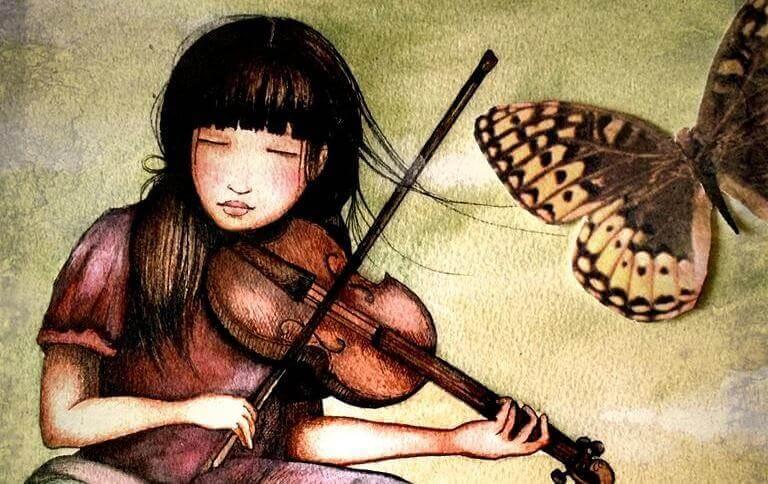 mulher-tocando-o-violino-com-borboleta