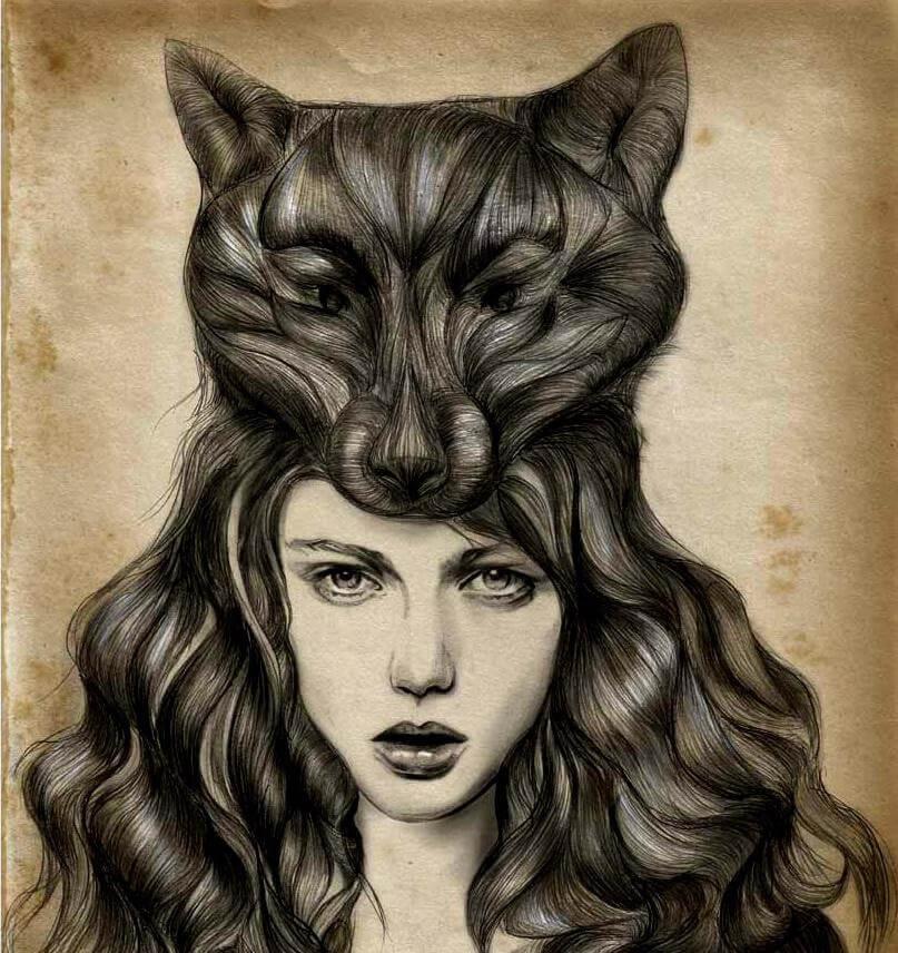 menina-cabelo-gato-representando-narcisismo