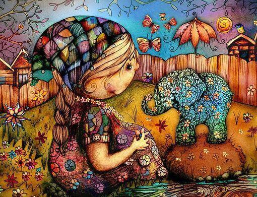 criança-com-elefante-colorido