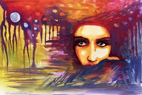 Ilustração de mulher atraente