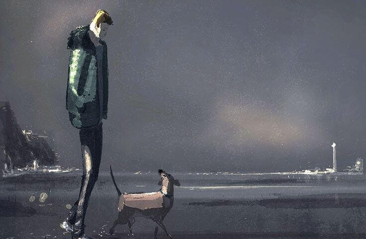 homem-com-cão-sendo-feliz