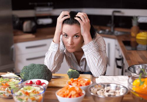 mulher sem fome