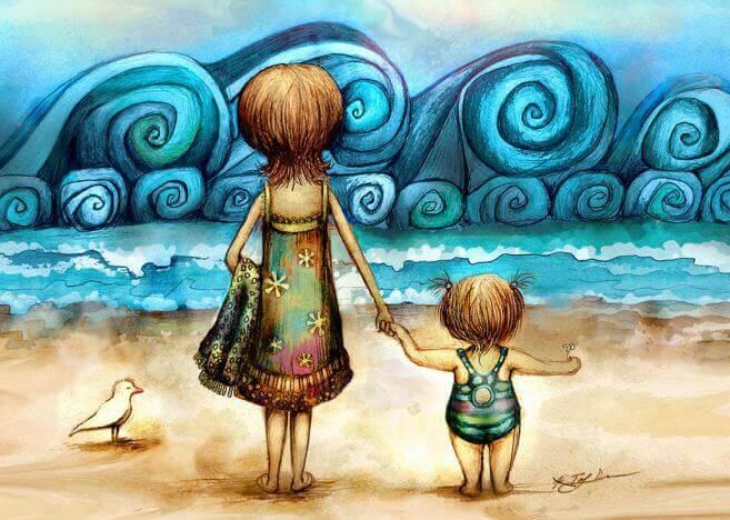 mae-e-filho-na-praia