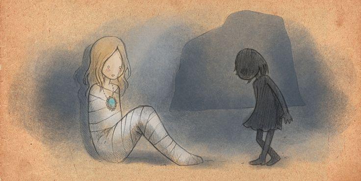 Menina com sombra - Ninguém se cura ferindo os outros