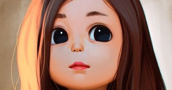 Menina de olhos escuros