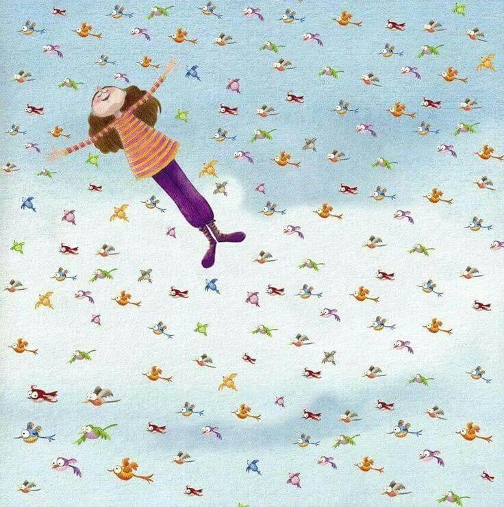 mulher-feliz-voando-com-passaros