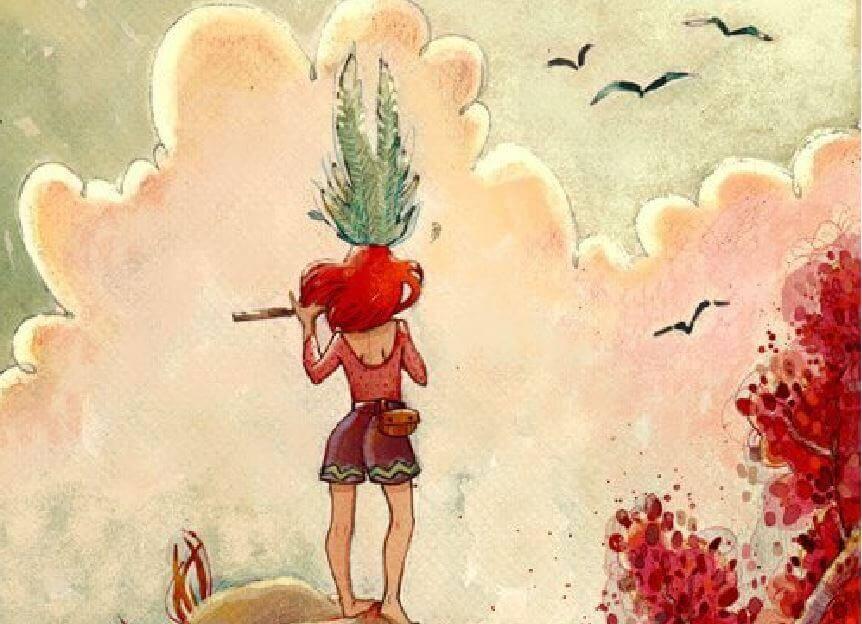 Mulher forte olhando o horizonte
