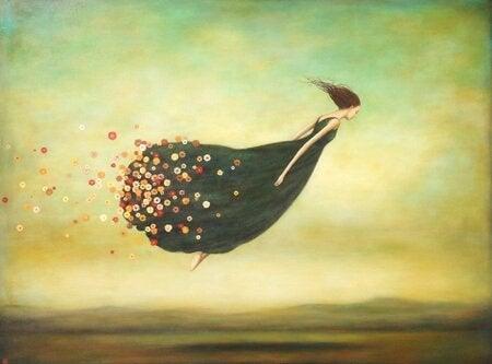 mulher-voando-vestido