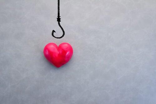coração fisgado