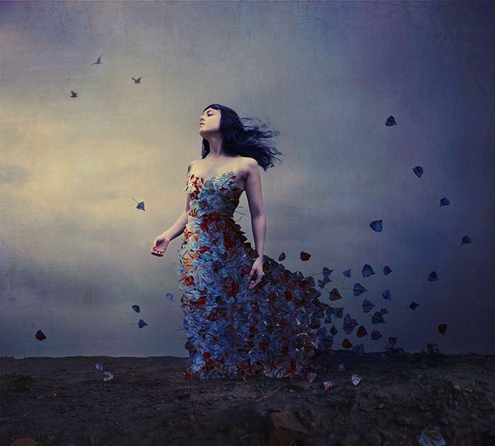 mulher-vestido-de-folhas