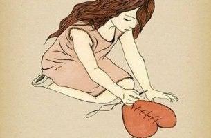Coragem é recolher os pedaços quebrados e se reconstruir novamente