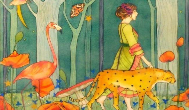 mulher-animais-natureza