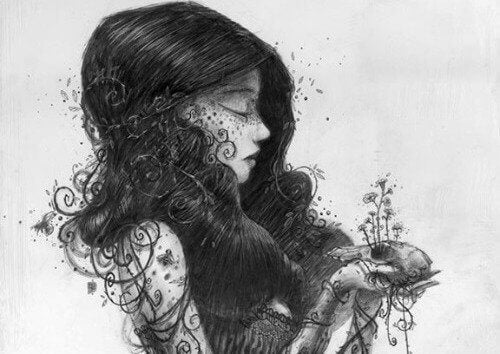 mulher-com-plantas