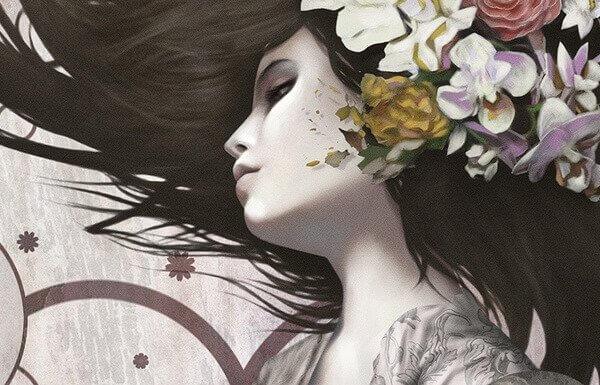 mulher-com-flores