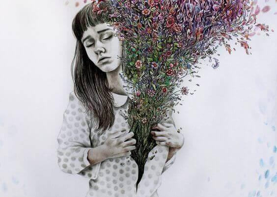 mulher-com-flores-no-coracao