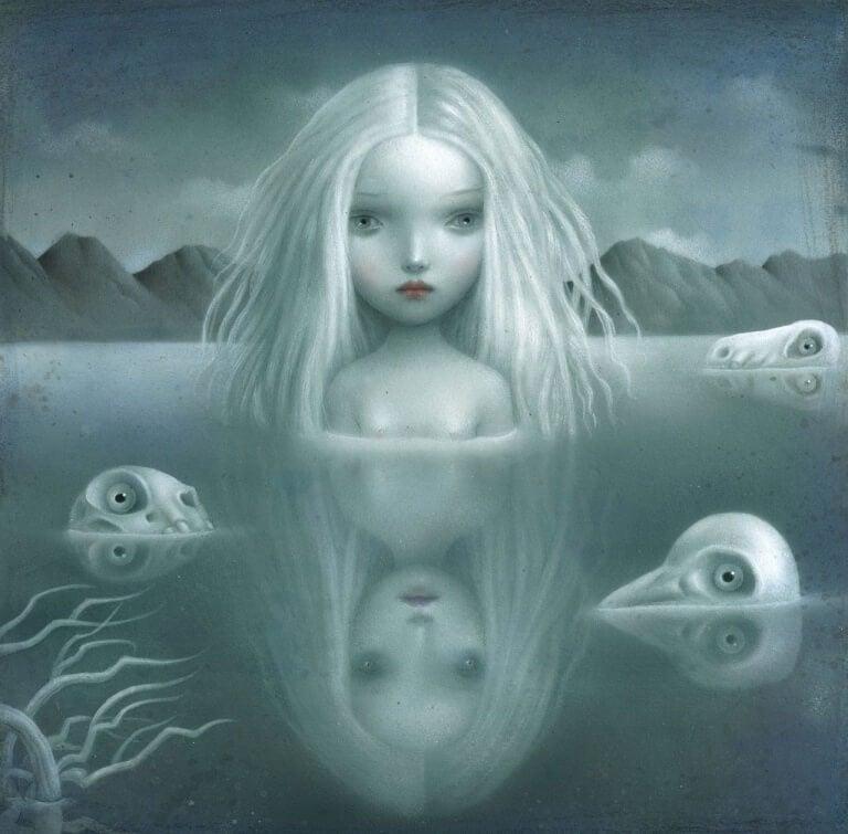 menina-na-agua-sombria
