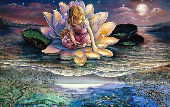 menina-em-flor-de-lotus