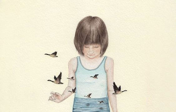 menina-rodeada-de-passaros-superando-depressao-infantil