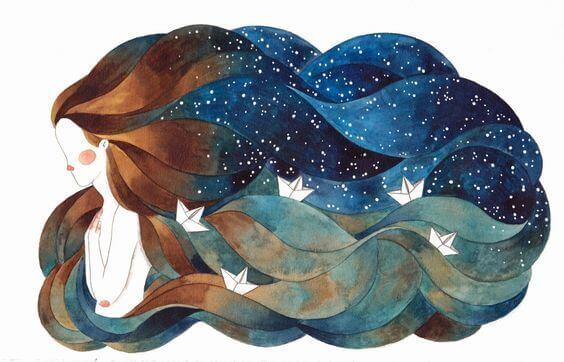 mulher-oceano-no-cabelo