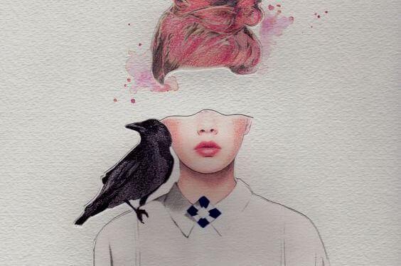 mulher-com-corvo