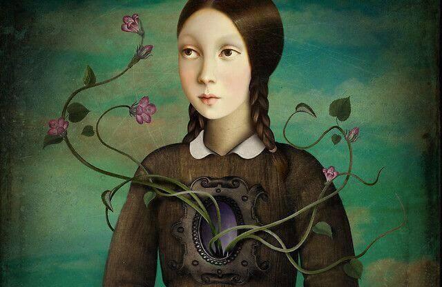mulher-com-flores-saindo-do-peito