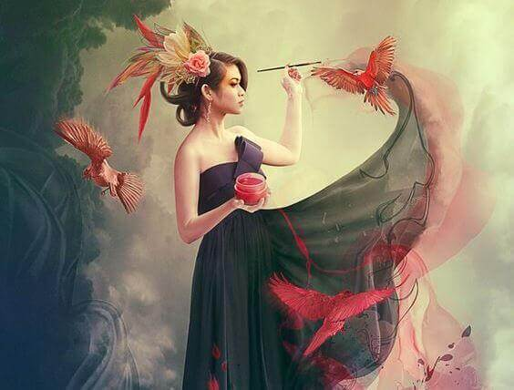 mulher-pintando