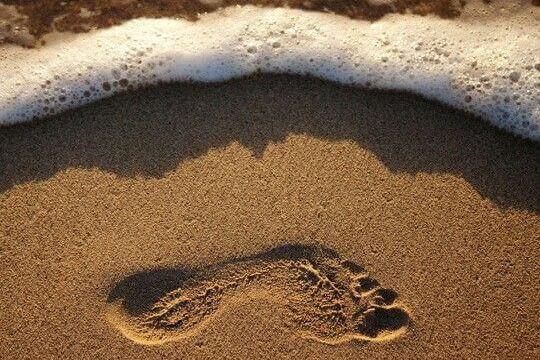 pegada-na-areia