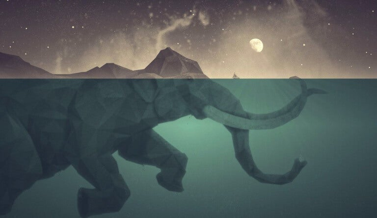 mamute-mergulhando